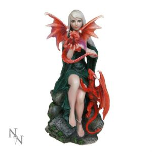 "Fairy~ Gothic Alternative Fairy Figurine ""Dragonkin""MEDIUM by Nemesis Now~ By Folio Gothic Hippy B0059B4"